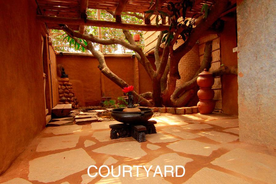 Courtyard of Aura Kalari